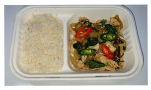 Basil Chicken w/ Rice